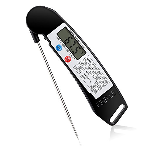 Cooking Thermometer, Feelle Ultra Fast Instant Read Digital Electronic
