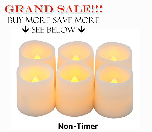 Battery Operated Candles By Festival Delights® - 6 Unscented