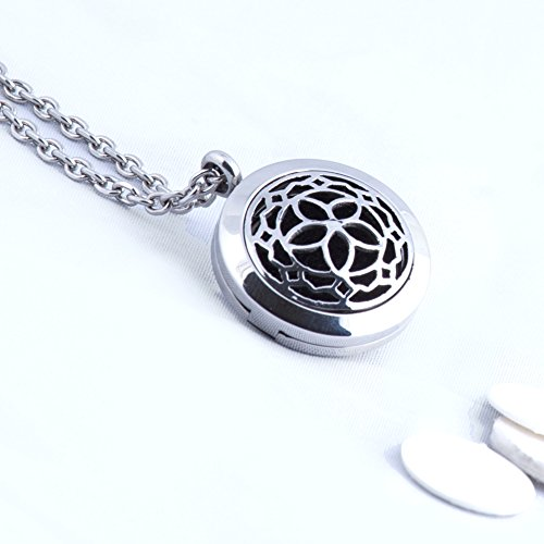 Aromatherapy Essential Oil Diffuser Necklace Jewelry ~ Elegant -
