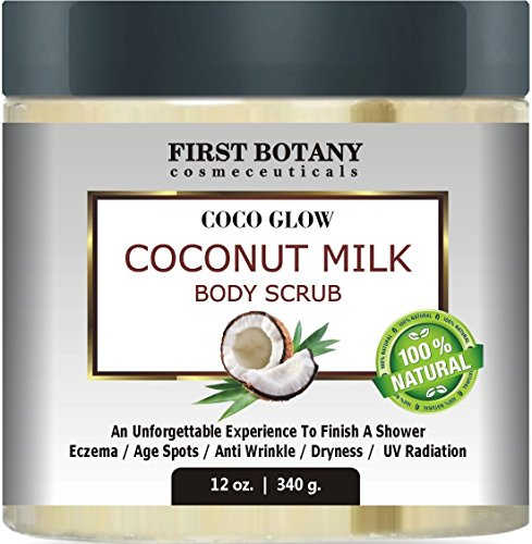 100% Natural Coconut Milk Body Polish 12 oz. With