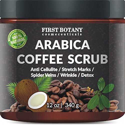 100% Natural Arabica Coffee Scrub 12 oz. with Organic