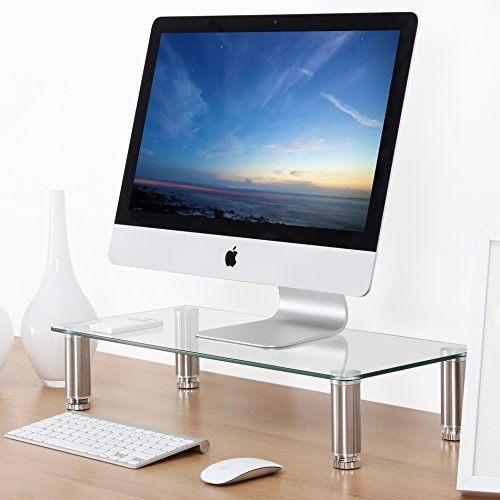 Fitueyes clear Computer Monitor Riser 4.7'' High 23.6'' Save