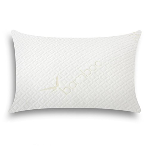 Floureon Shredded Memory Foam Pillow Ultra Plush with Bamboo