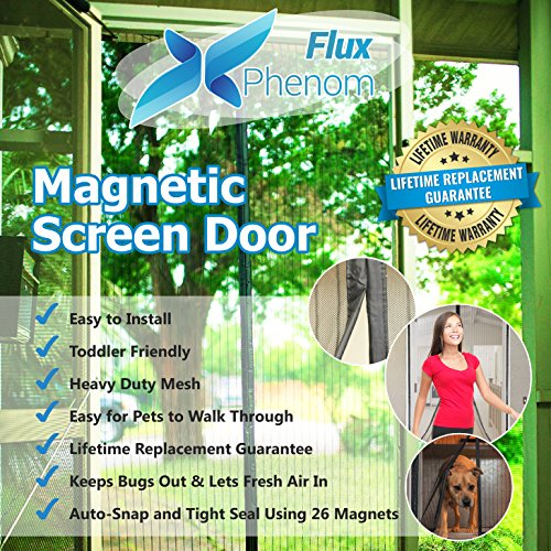 Flux Phenom Reinforced Magnetic Screen Door, Fits Door Up