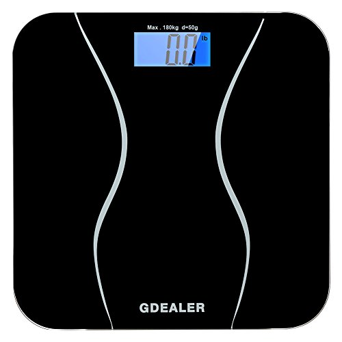 GDEALER Digital Bathroom Scale 400lb/180kg Body Weight Bathroom Scale