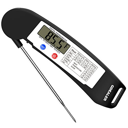 GDEALER Instant Read Thermometer Super Fast Digital Electronic Food