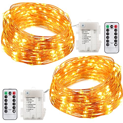 GDEALER 2 Pack Fairy Lights Fairy String Lights Battery