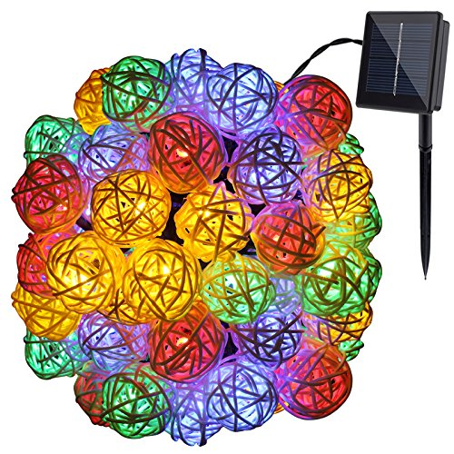 GDEALER Solar String Lights 30LED 20ft Solar Powered Starry