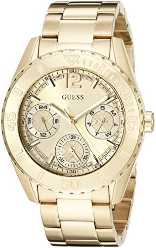$75.99 GUESS Women\'s U0633L1 Sporty Gold-Tone Watch with Multi-Function Dial