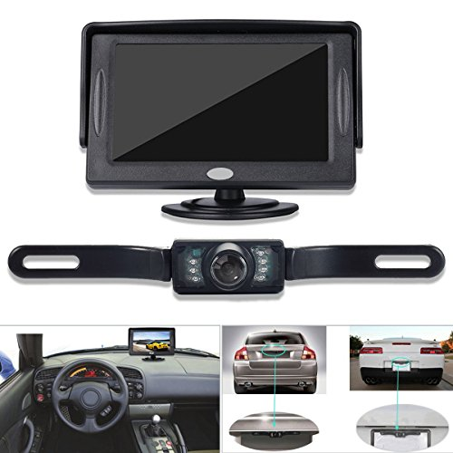 Backup Camera and Monitor Kit for Car, GerTong Universal