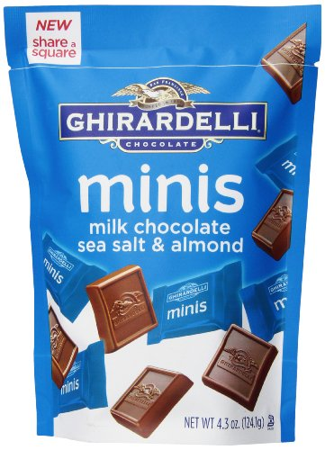 $3.97 Ghirardelli Minis Pouch, Chocolate Sea Salt and Almond, 4.3
