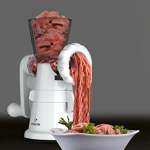 Gideon Hand Crank Manual Meat Grinder with Powerful Suction