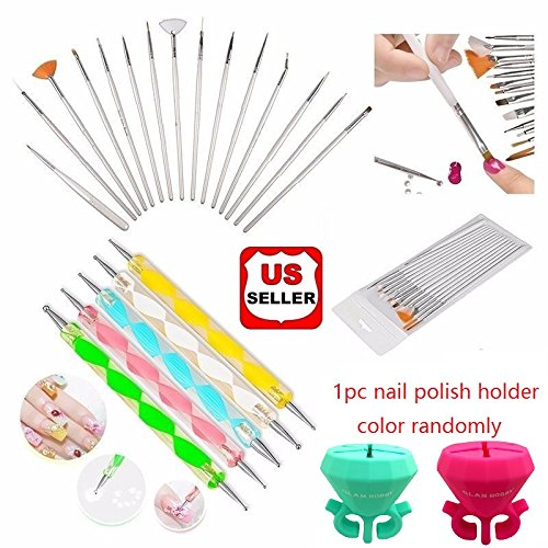 Glam Hobby 20pc Nail Art Manicure Pedicure Beauty Painting