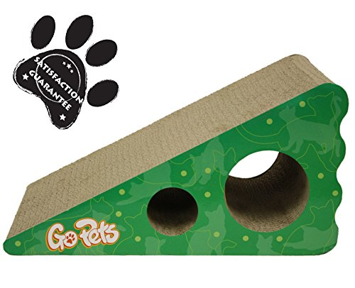 Premium Cat Scratcher by GoPets, Wedge Shaped Corrugated Cardboard