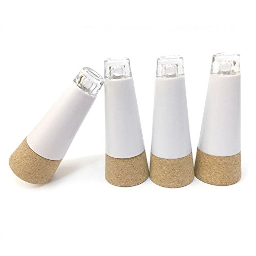 Goswot Pack of 8 USB Rechargeable Bottle Light Cork