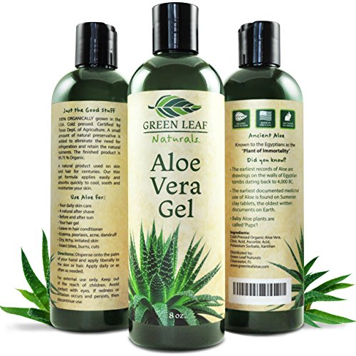 Green Leaf Naturals Aloe Vera Gel for Skin, Face
