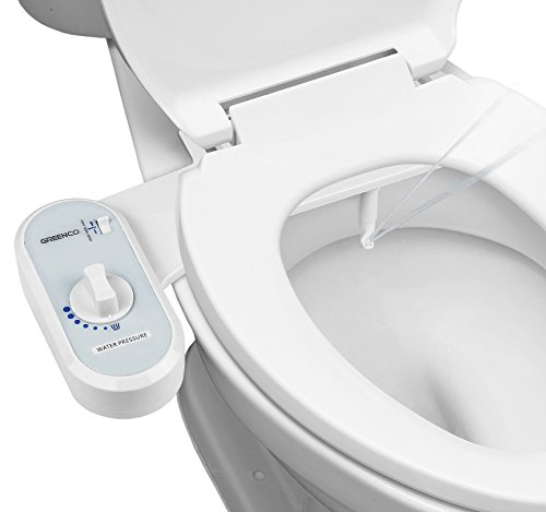 Greenco Bidet Fresh Water Spray Non-Electric Mechanical Bidet Toilet