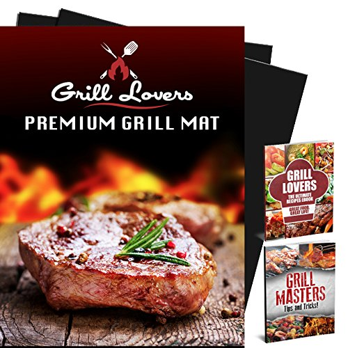 Premium BBQ Grill Mat Set of 2 - Great