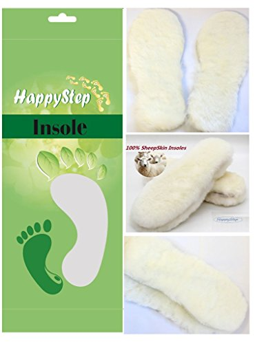 HappyStep® Premium Quality Genuine Sheepskin Insoles, Lambswool Insoles and