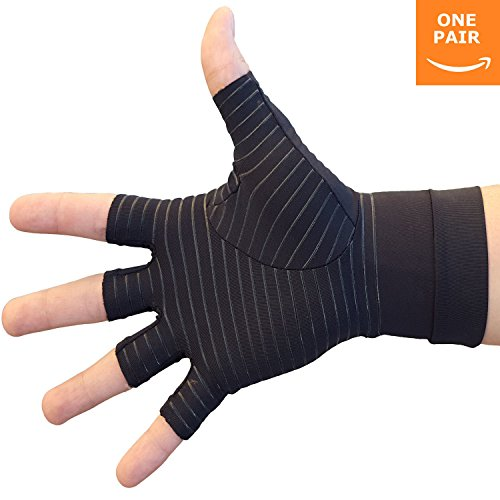 Hand Pain Relief Gloves - Copper Compression Gives Relief