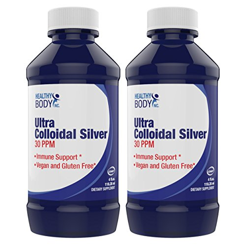 (2 Bottles) Pure Colloidal Silver 30 PPM Vegan and