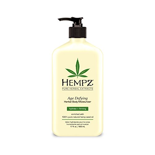Hempz Age Defying Herbal Body Moisturizer, Off White, Vanilla/Musk