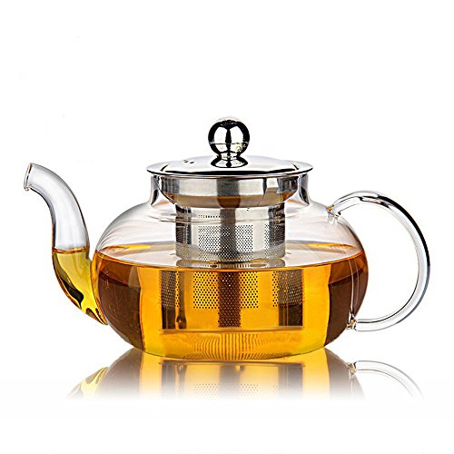 Hiware Good Glass Teapot with Stainless Steel Infuser