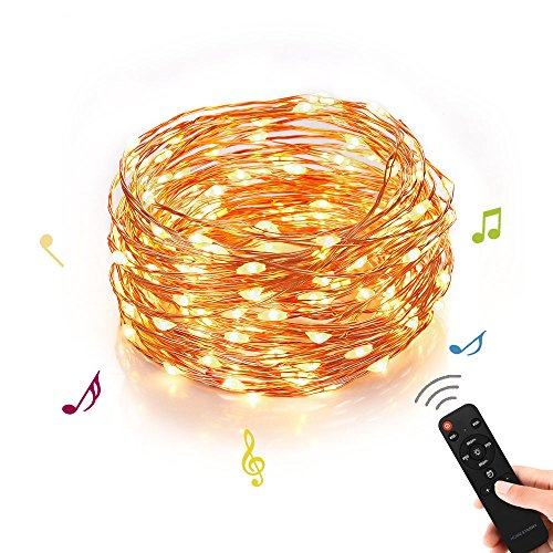 Homestarry Outdoor String Lights,Music Dimmable LED String Lights With