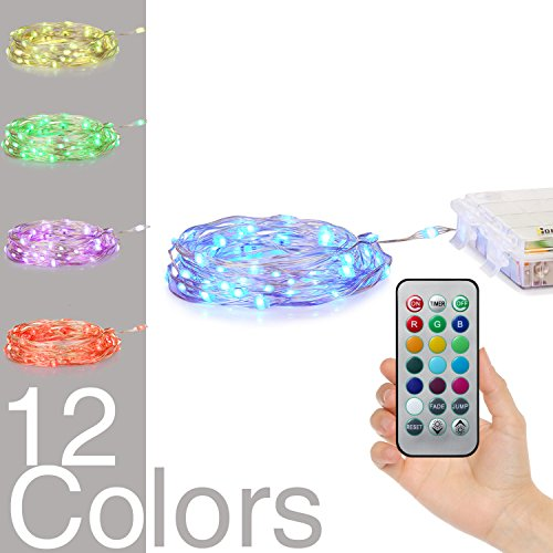 Homestarry LED String Lights,Battery Powered Multi Color Changing String