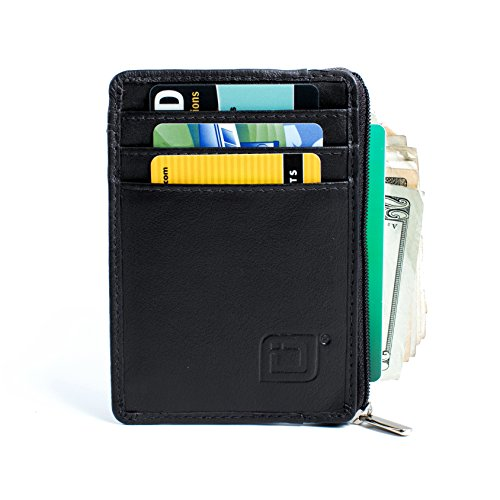 RFID Blocking Secure Mini Wallet - Black