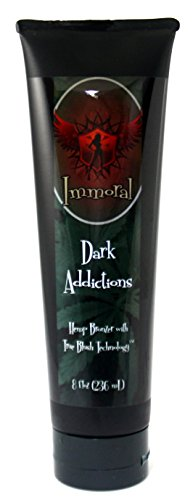 Dark Addictions Tanning Lotion (Hemp Blush Bronzer), 8 Ounces