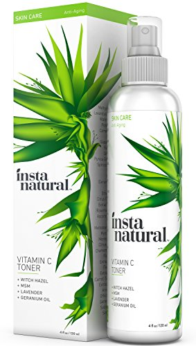 InstaNatural Vitamin C Facial Toner with Witch Hazel, Aloe
