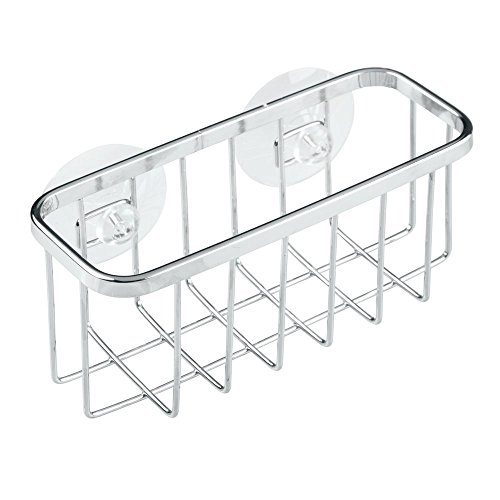 InterDesign Gia Kitchen Sink Suction Holder for Sponges, Scrubbers