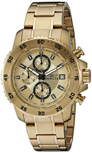 $112.07 Invicta Men's 21398 Pro Diver Analog Display Quartz Gold-Plated