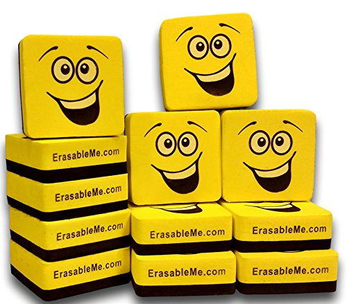 Magnetic Whiteboard Dry Eraser Set of (12) for Cleaning