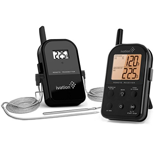Ivation Long Range Wireless Thermometer - Dual Probe -