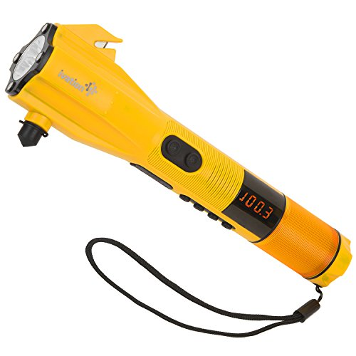 $34.99 Ivation 9-in-1 Dynamo Rainproof AM/FM Radio, LED Flashlight, SOS