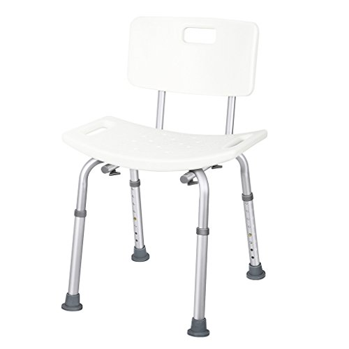 JCMASTER Shower Chair with Back for Disabled