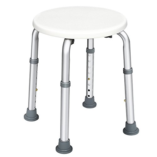 JCMASTER Round Stool Bath Bench for Disabled