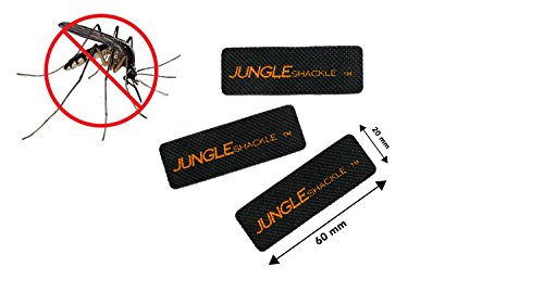 JUNGLEshackle Natural Mosquito Repellent Insect Sticker Patch, 5 Pack