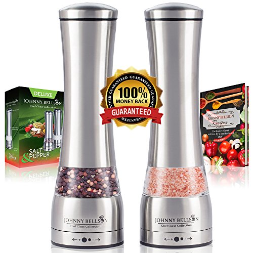 Johnny Bellson Premium Salt and Pepper Grinder Set -