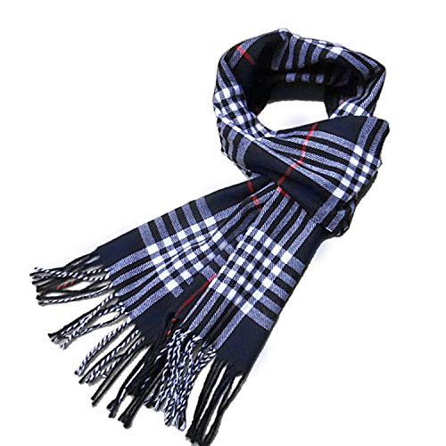 Winter Plaid Warm Soft Elegant Cashmere Feel Wrap Scarf