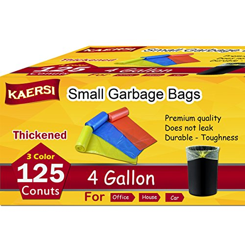 KAERSI Thicken Small Trash Bags for Office,Home Waste Bin
