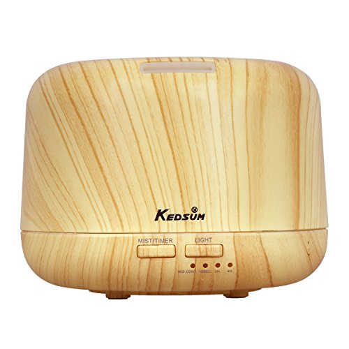 KEDSUM 300ml Wood Grain Aromatherapy Essential Oil Diffuser Ultrasonic