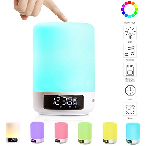 Keynice LED Bluetooth Speaker, Bedside Lamp, Touch Sensor Table