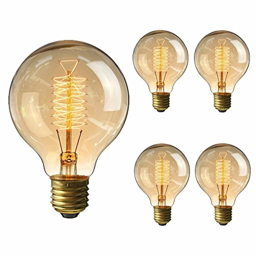 KINGSO Vintage Edison Bulb 60W Incandescent Antique Dimmable Light