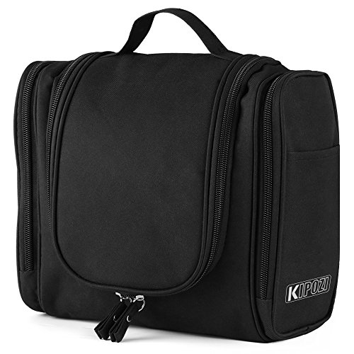 KIPOZI Hanging Toiletry Bag for Men  Women Rugged