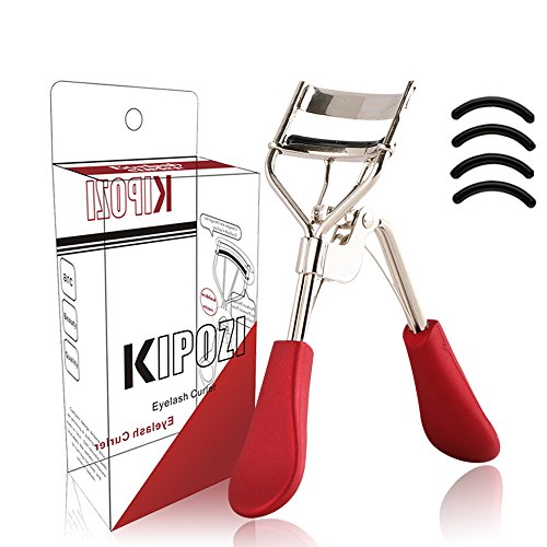 KIPOZI Pro Eyelash Curler with Soft Silicone Refill Pads