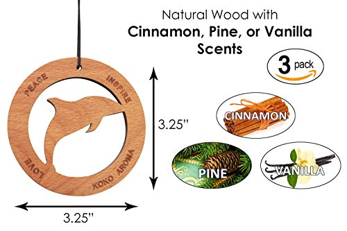 Cinnamon, Pine, and Vanilla Bundle Air Sanitizer Car Freshener