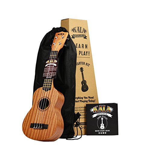 Kala Learn To Play Ukulele Starter Kit, Light Mahogany